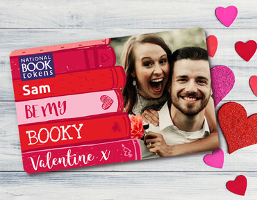 Valentine's Day My Booky Valentine personalised book token gifts card